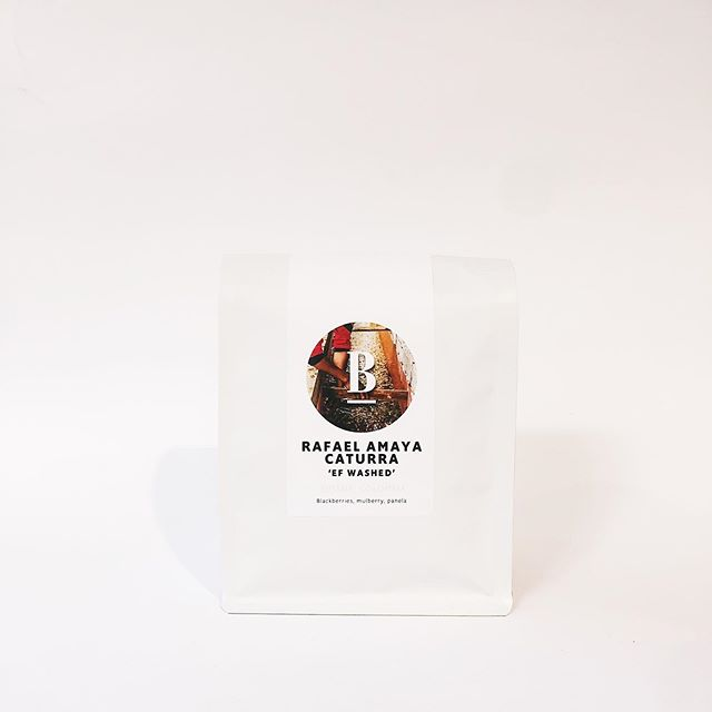 """An absolutely stellar Colombian. This coffee is produced by Rafael Amaya and his son located in Timana just 18km away from Pitalito, where some of the best coffees are produced in Colombia. This mircolot is 100% Caturra which originated in Minas Gerais, Brazil as a natural mutation of Red Bourbon. This lot was exposed to an extremely long, dry anaerobic fermentation of 180 hours and was then dried out on raised beds to its ideal moisture content. Although its a technically a """"washed"""" coffee, due to the long anaerobic ferment it has created a super sweet panela flavour featuring lots of ripe blackberry and mulberry flavours with a very round and creamy mouthfeel while retaining all the clarity and cleanness that would be expected from a conventional washed coffee. We were blown away by the quality of this coffee on the cupping table and hope your just as blown away by it as us!"""