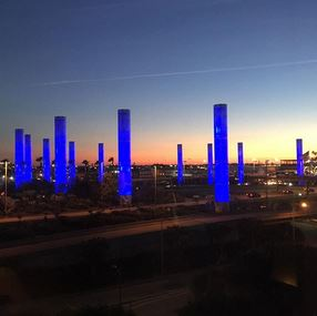 LAX Airport at Sunset