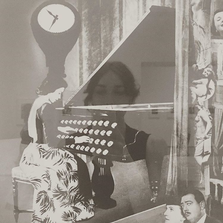 Self-Portrait by Erin Elise Holland / Reflected photograph by  Grete Stern