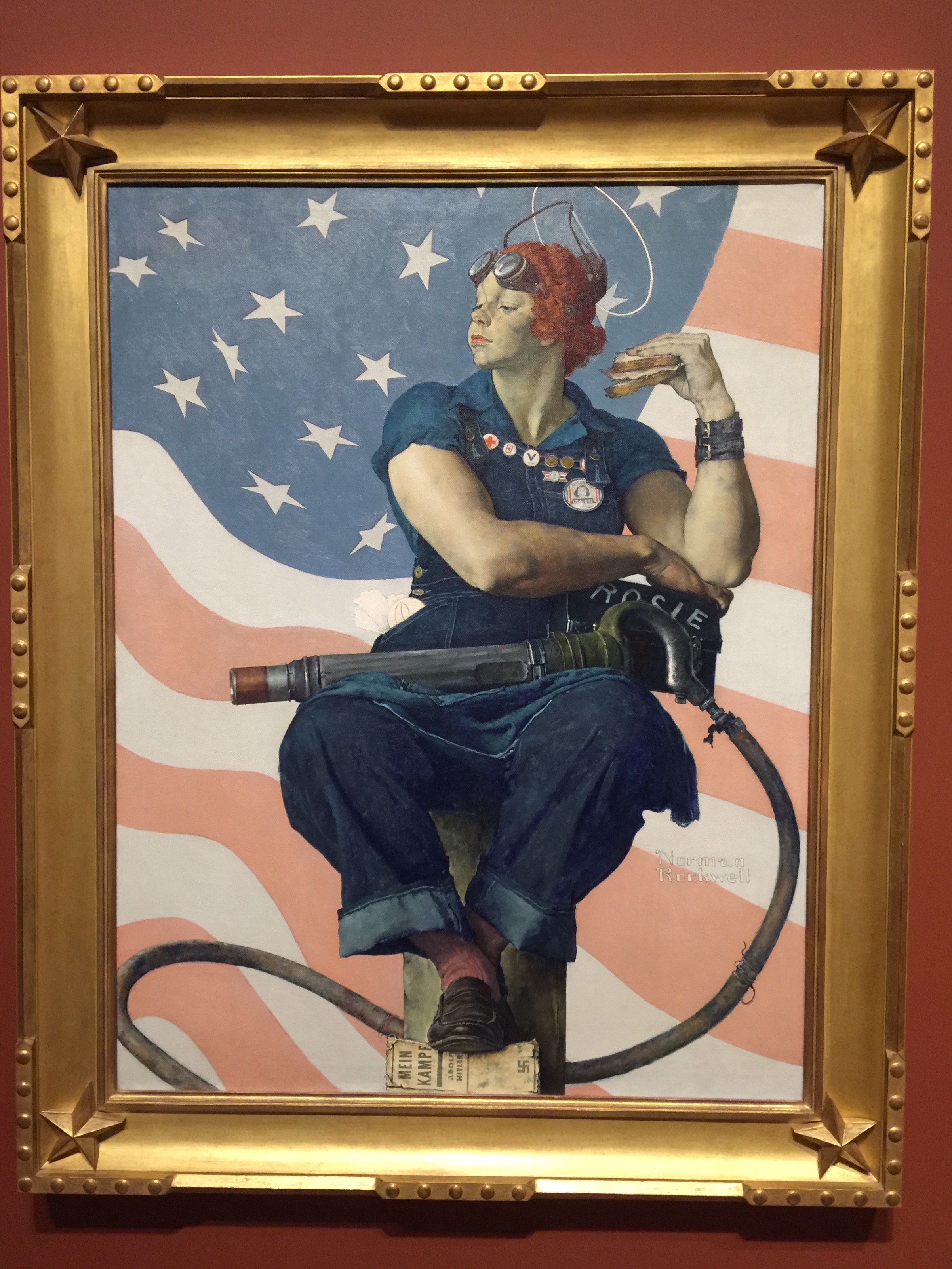 """""""Rosie the Riveter"""" (Norman Rockwell)"""
