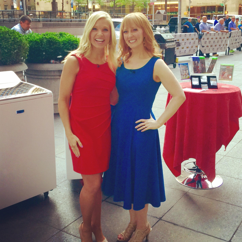"With ""FOX & Friends Weekend"" co-host Anna Kooiman."