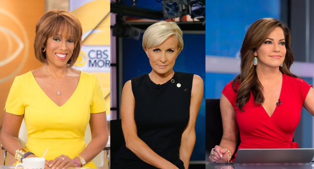 CBS'Gayle King, MSNBC's Mika Brzezinski and HLN's Robin Meade. Photo from Bon Appetit.