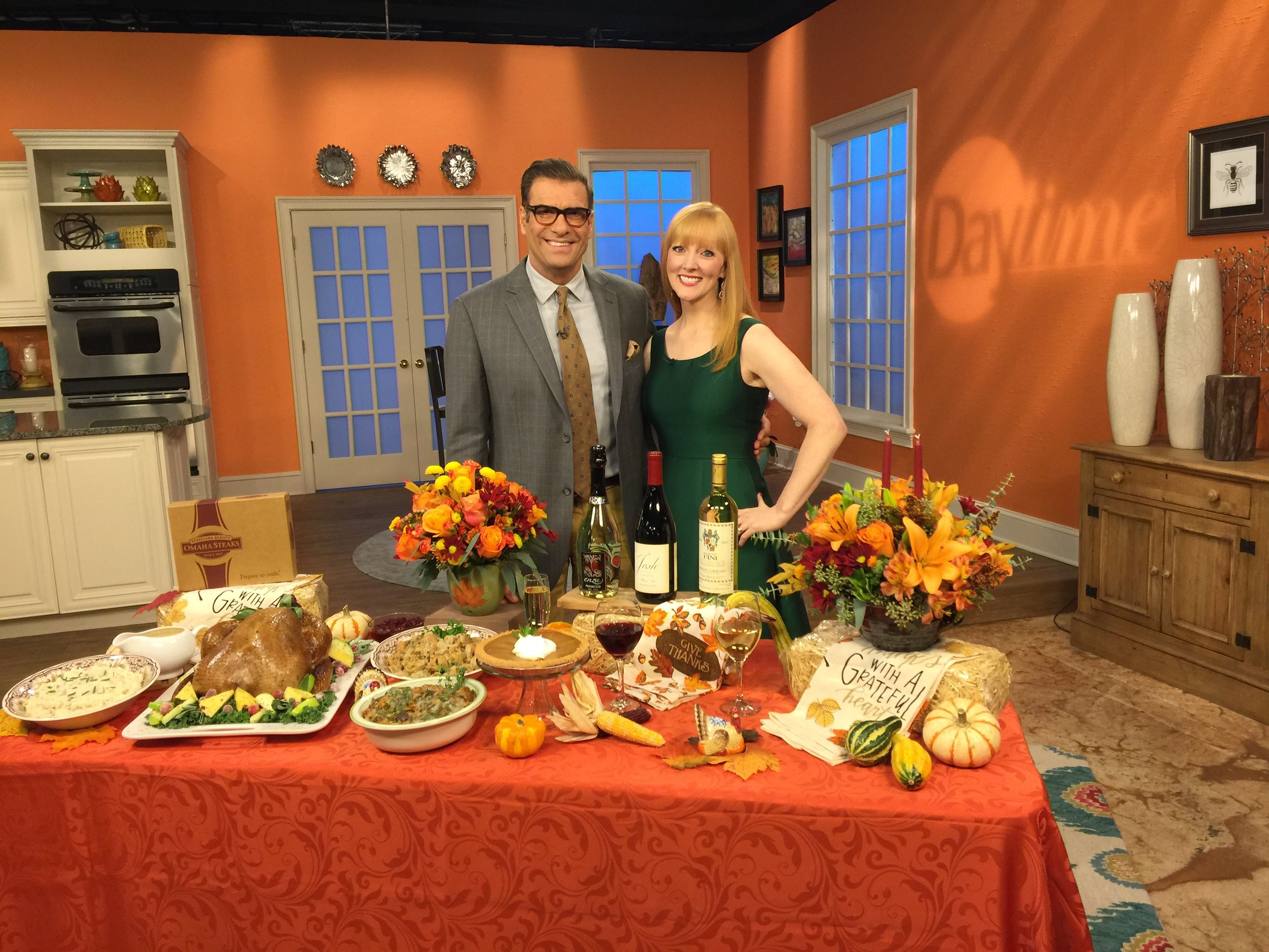 "With ""Daytime"" co-host Jerry Penacoli.  Food styling by  FoodSTYL Tampa Bay ."