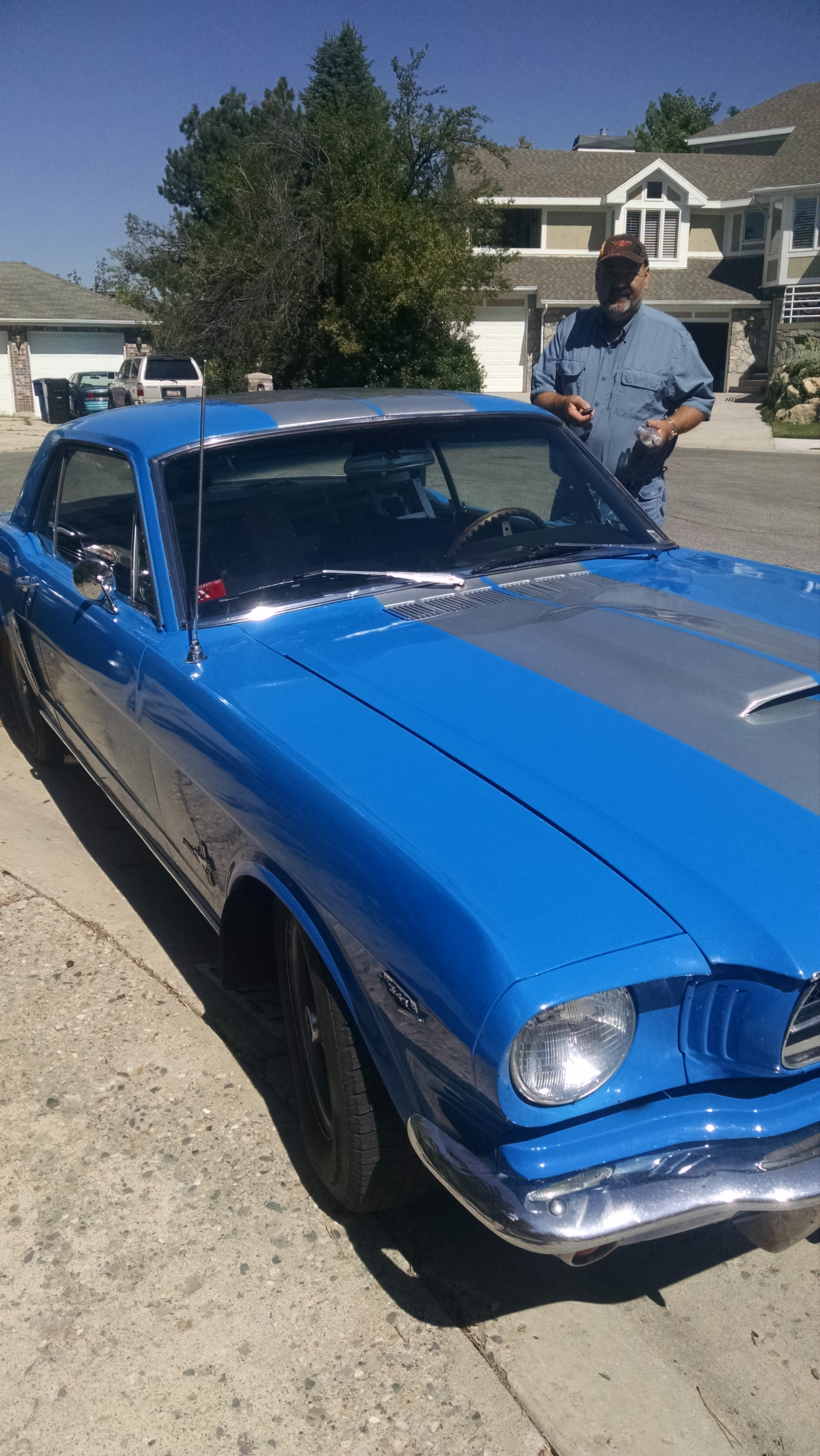 My Uncle John with his '65 Mustang