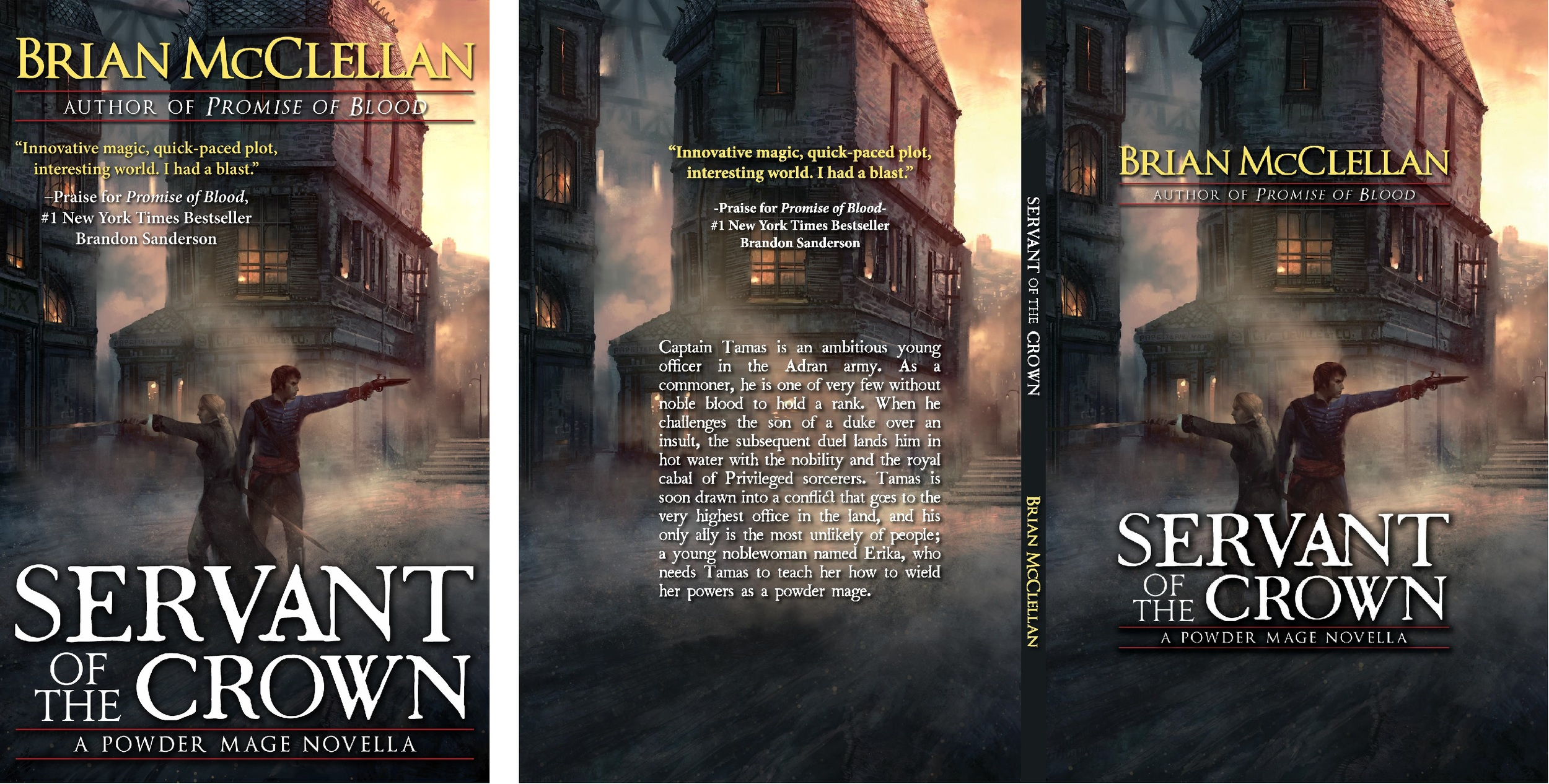 We had to turn the ebook cover on the left into a print cover on the right.