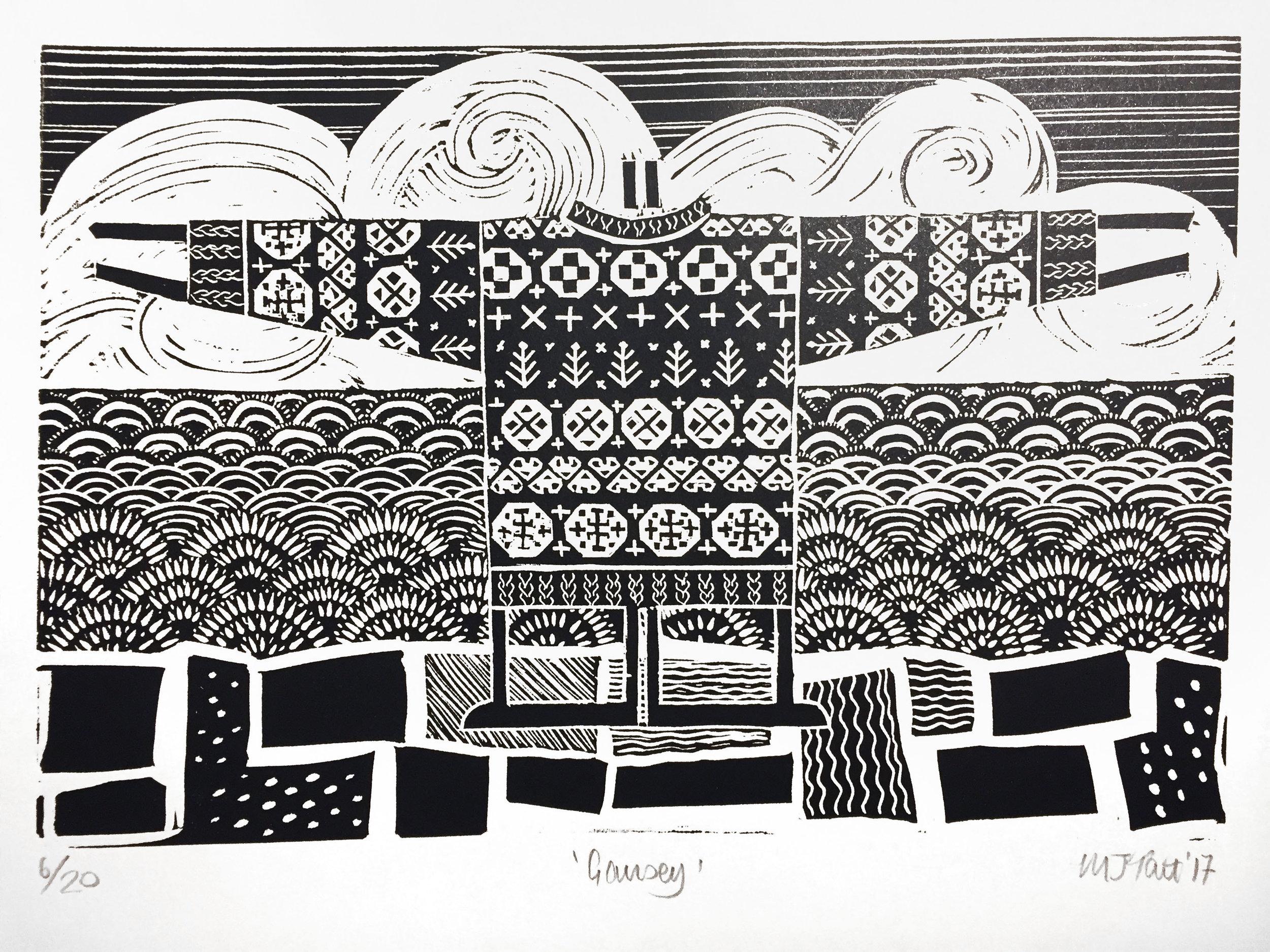 Limited edition print 'Gansey' by  Natty Maid