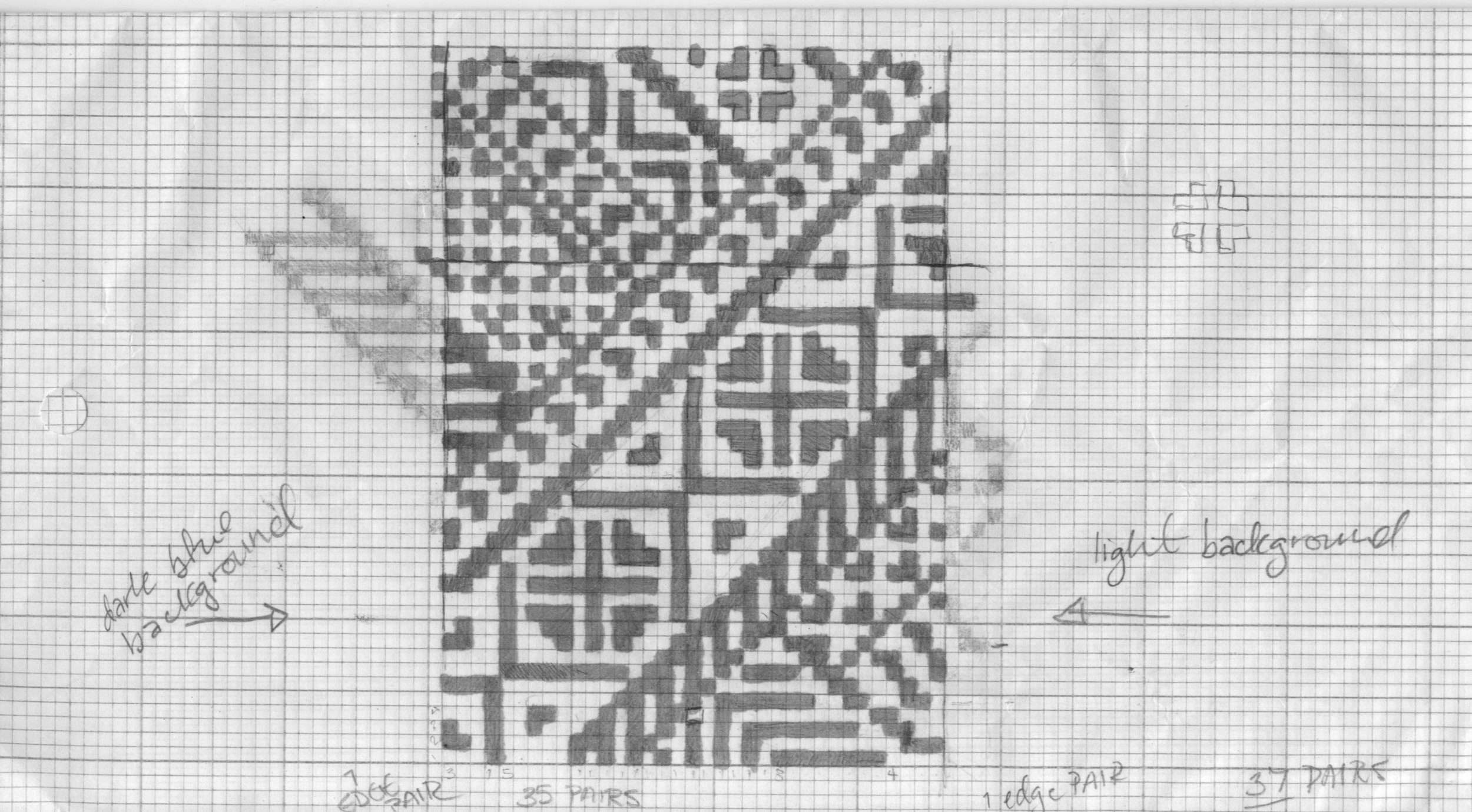 Double knit swatch and chart pattern for swatch. ©Aleks Byrd 2017