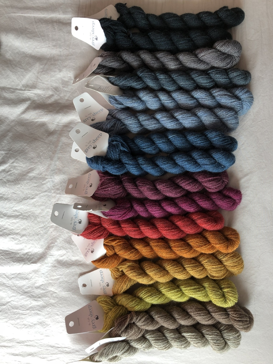 Collection of Hampshire 4ply mini skeins from The Little Grey Sheep