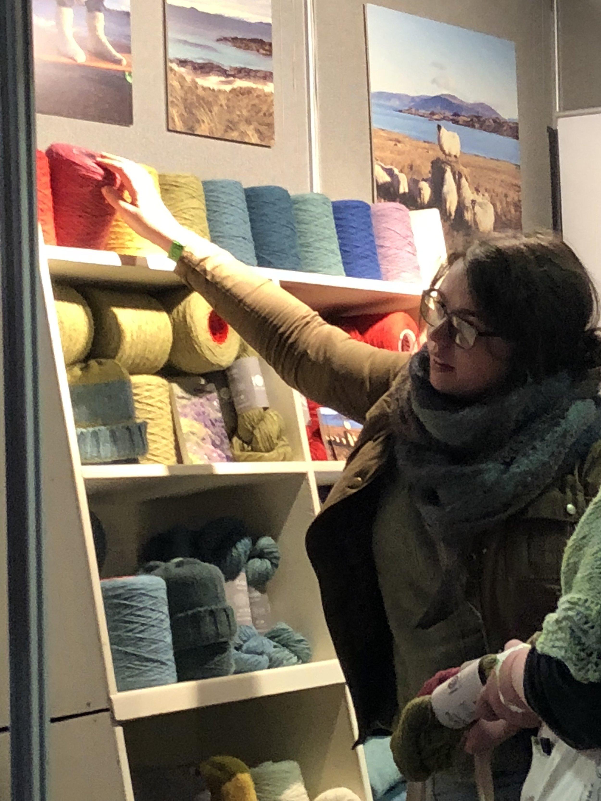 cone yarn at Iona Wool
