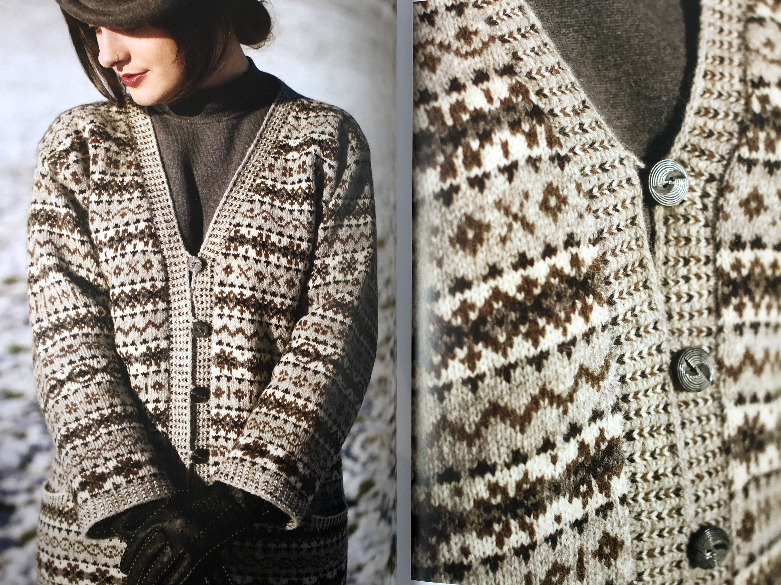 Stunning photos of the Hilda cardigan from the book.