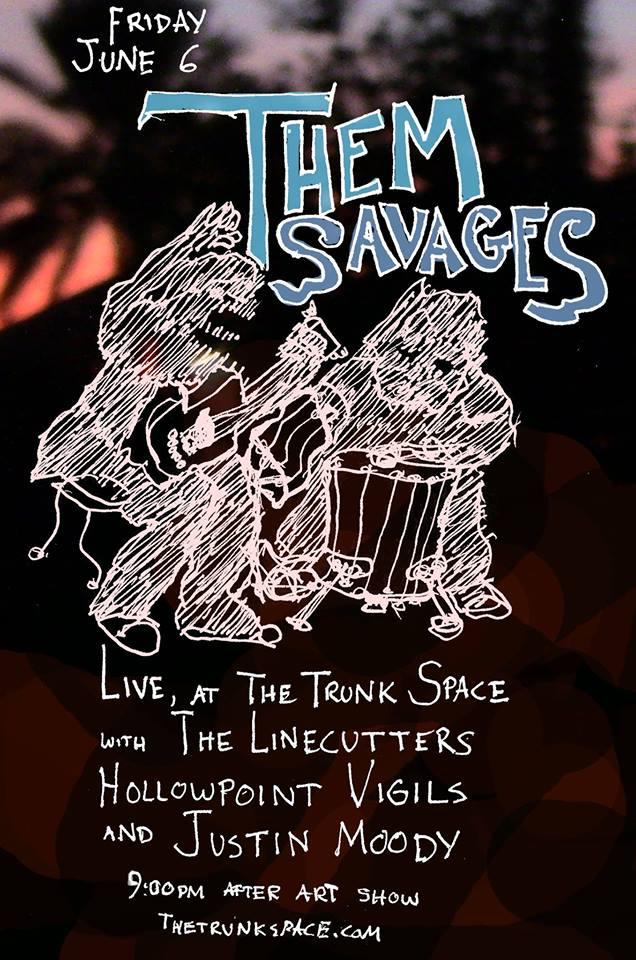 Shouting stomping Flagstaff acoustic two-piece!    https://www.facebook.com/  themsavages/ app_204974879526524   With boy toy  Justin Moody !  kid-punks  The Linecutters ! and  Hollowpoint Vigils