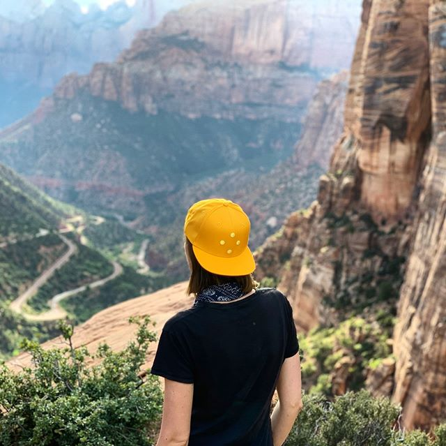 The Gild Cap from waaaaaay above. #marchcaps #thegildcap #forwardmarch #utah #zionnationalpark