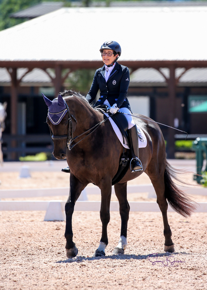 Debbie and Jolie competing at the Tryon International Equestrian Center. Photo: Sue Stickle