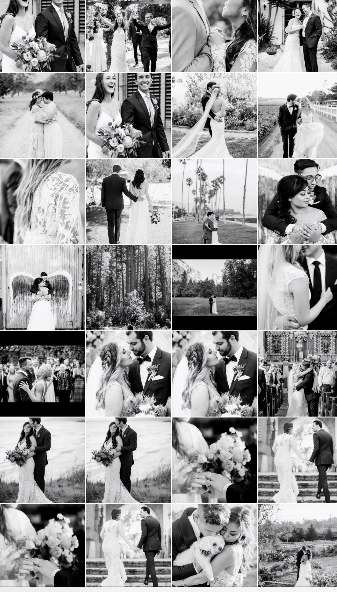 Best of Black and White Wedding Images One