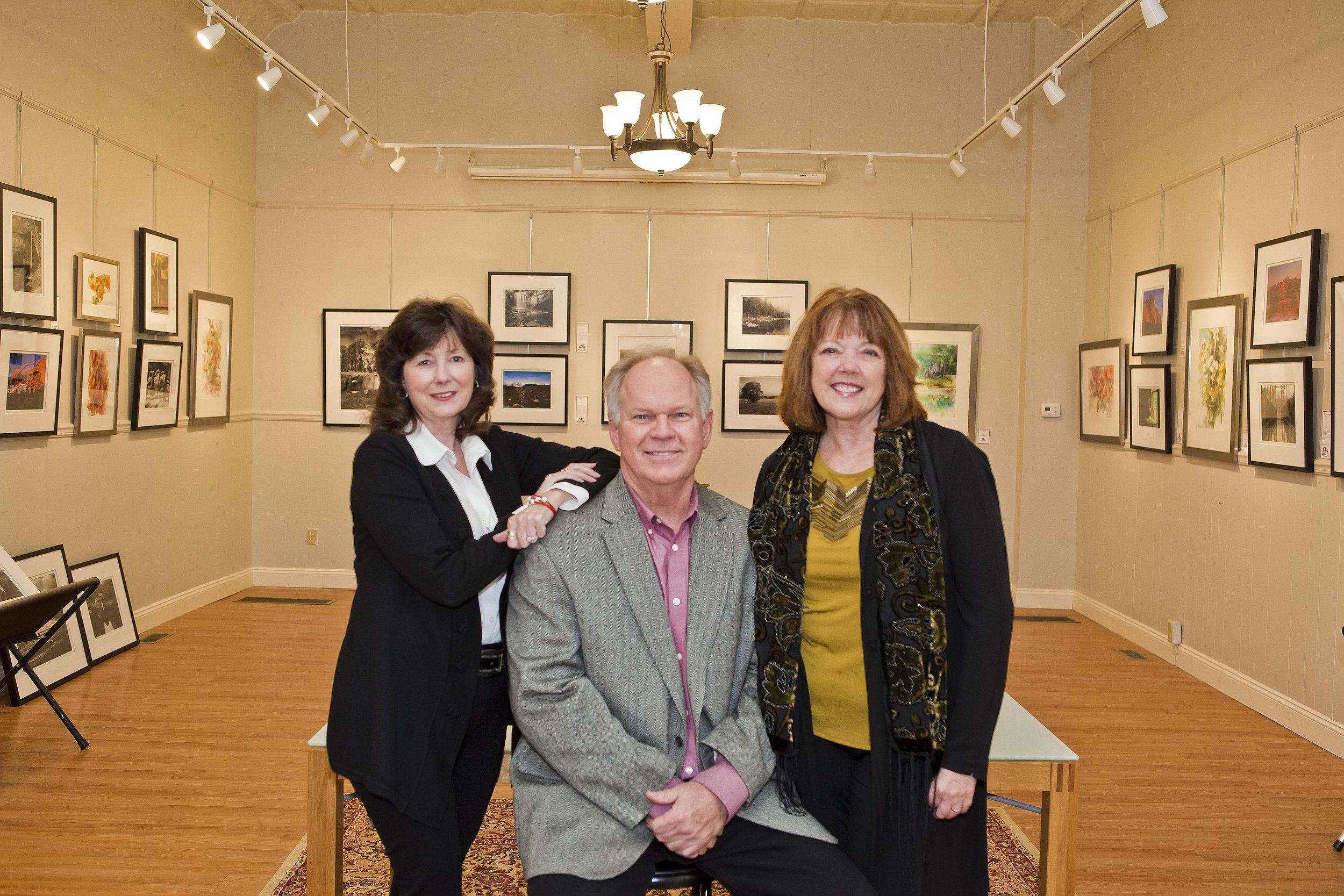 Deb Waymire, Alan McConnell, and Rena Brouwer, featured artists of Art Sense: Across the Lanscape. April 13 - May 10, 2018 in the Lilian Fendig Gallery