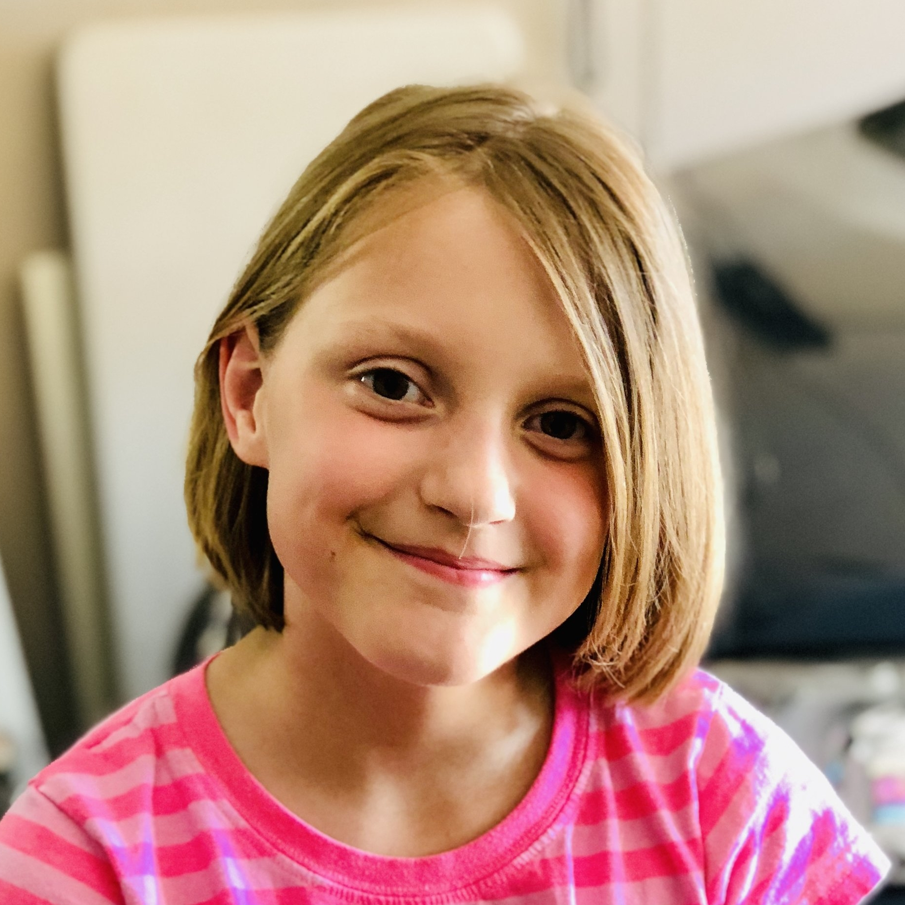 Ava   I am spunky and usually chatty. I love everything my big brother and sister are into, the color pink and my little pony.