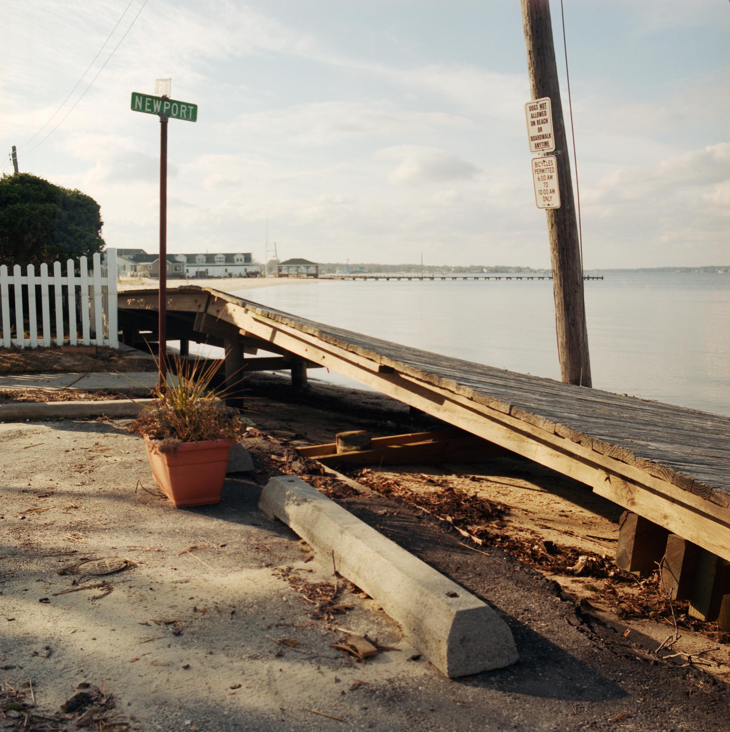 Boardwalk askew