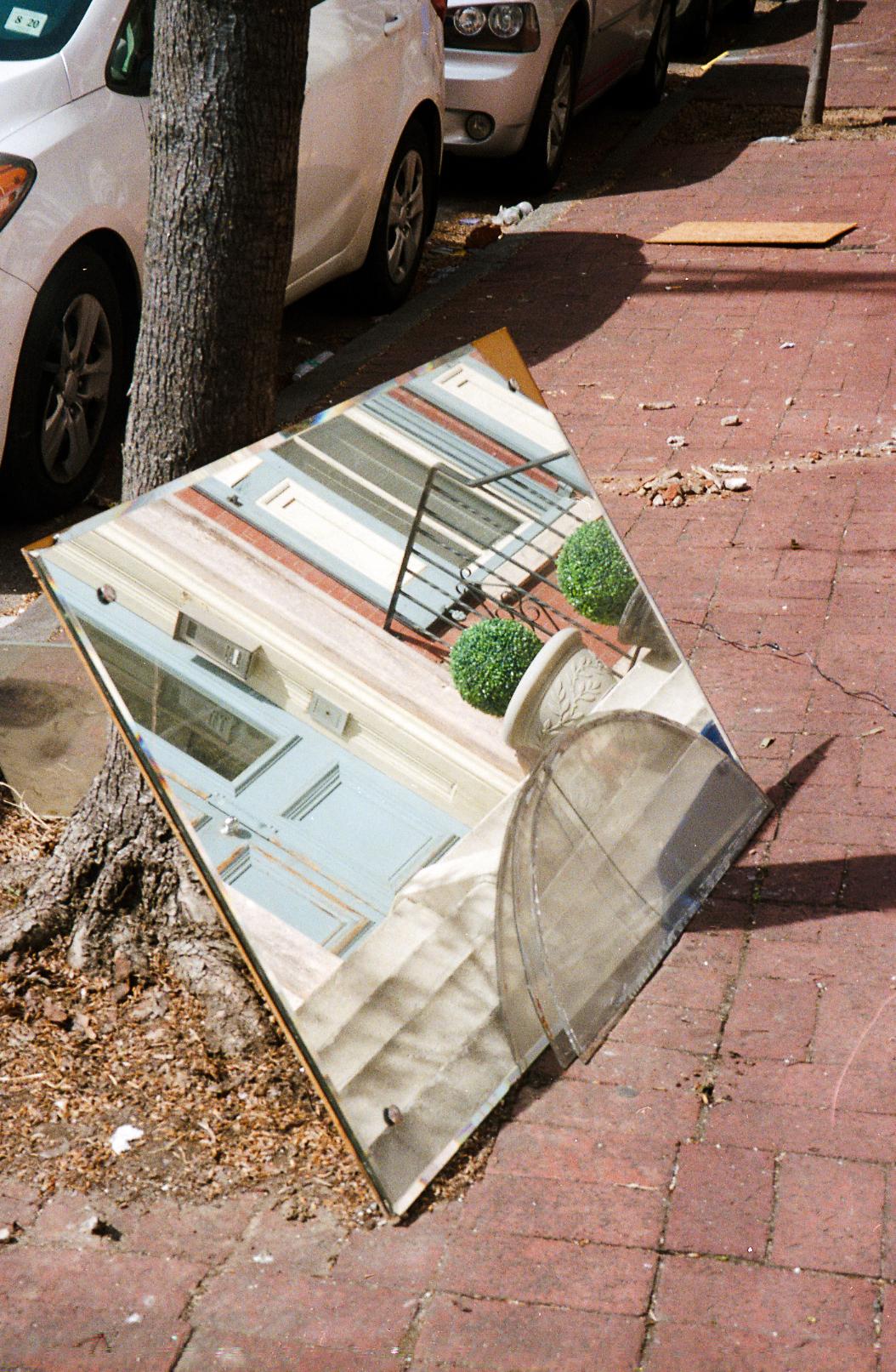 Mirrored sidewalk
