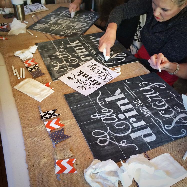 Michelle Lea Creative Chalkboard Workshop