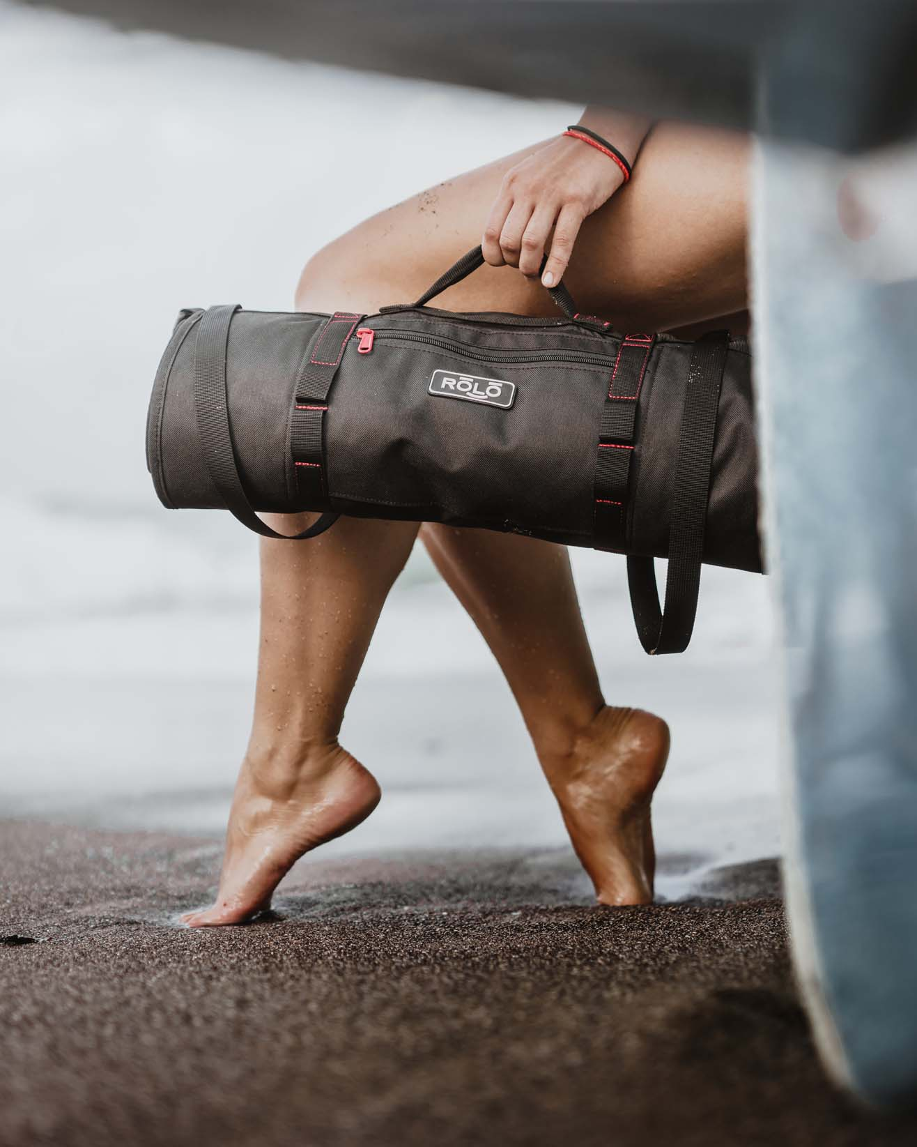 Attaches to a backpack, no suitcase required