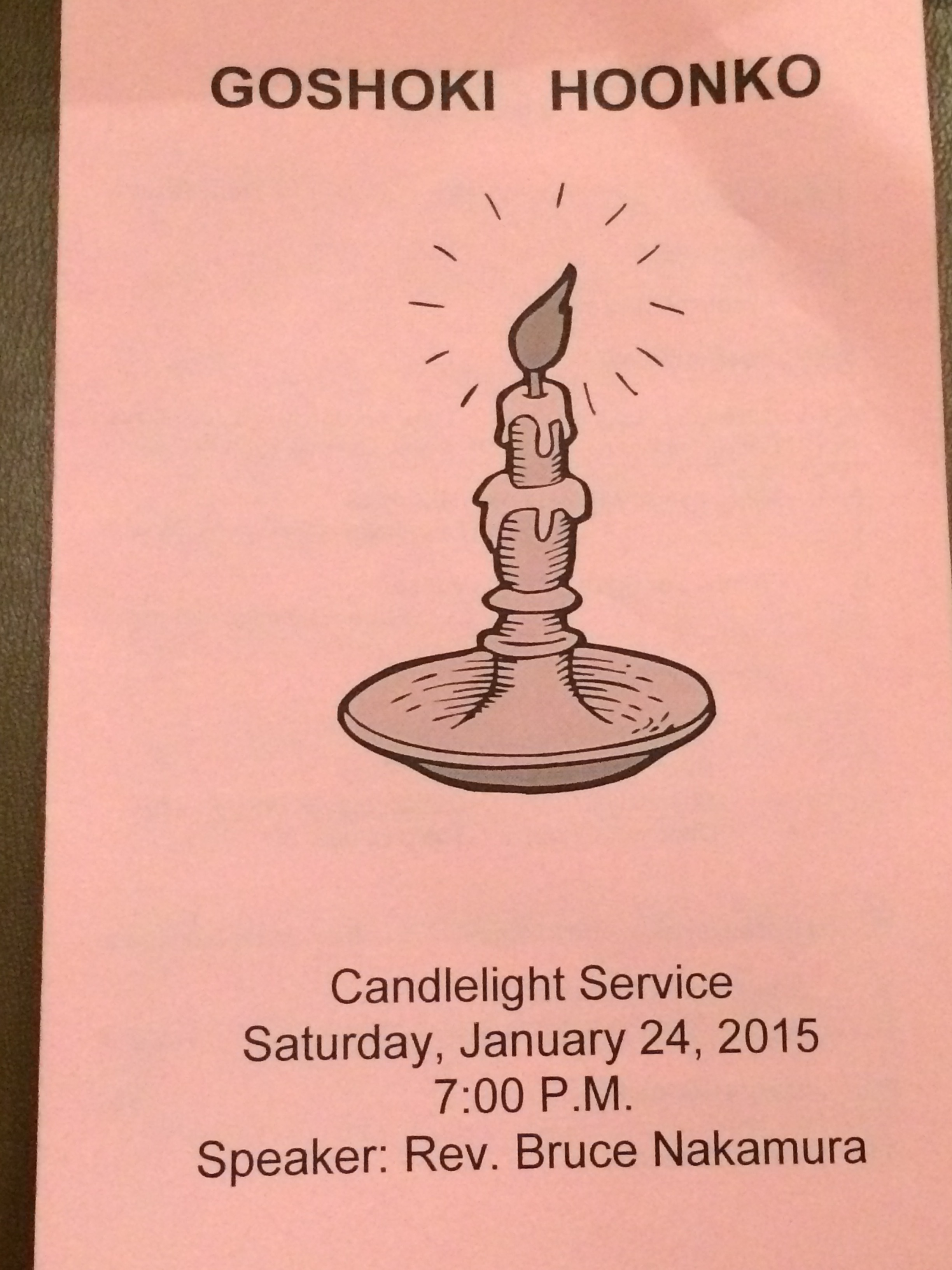 Hoonko Candlelight Service