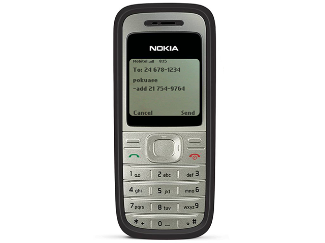 A representation of the text-message interface