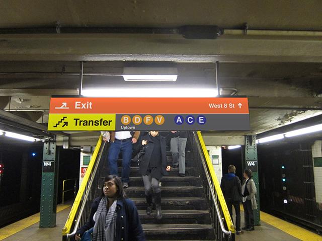 Stair signage mockup