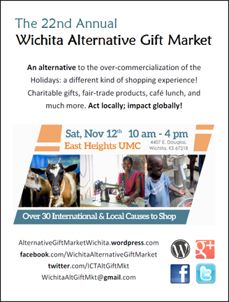 Thank you Wichita & surrounding areas! $25,000 was raised today by our local community supporting small businesses & causes all around the world. Thank you for visiting our booth & see you at the next Alternative Gift Market Nov. 11, 2017!