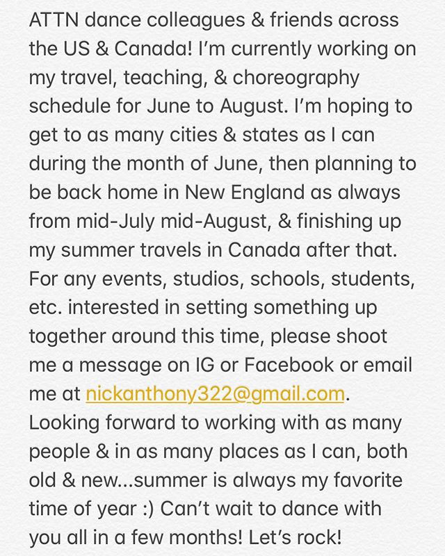 Summer 2019! Let's get it! • • • • • • • • #dance #dancer #dancechoreographer #dancechoreography #danceteacher #danceinstructor #hiphopdance #hiphopdancer #hiphopchoreographer #hiphopchoreography #hiphopteacher #hiphopinstructor #contemporarydance #contemporarydancer #contemporarychoreographer #contemporarychoreography #contemporaryteacher #contemporaryinstructor #acroteacher #tumblingteacher #summerteachingtour #summertravels #lovewhatido #frequenttraveller #nakoa #nakoanetwork #nakoastudios