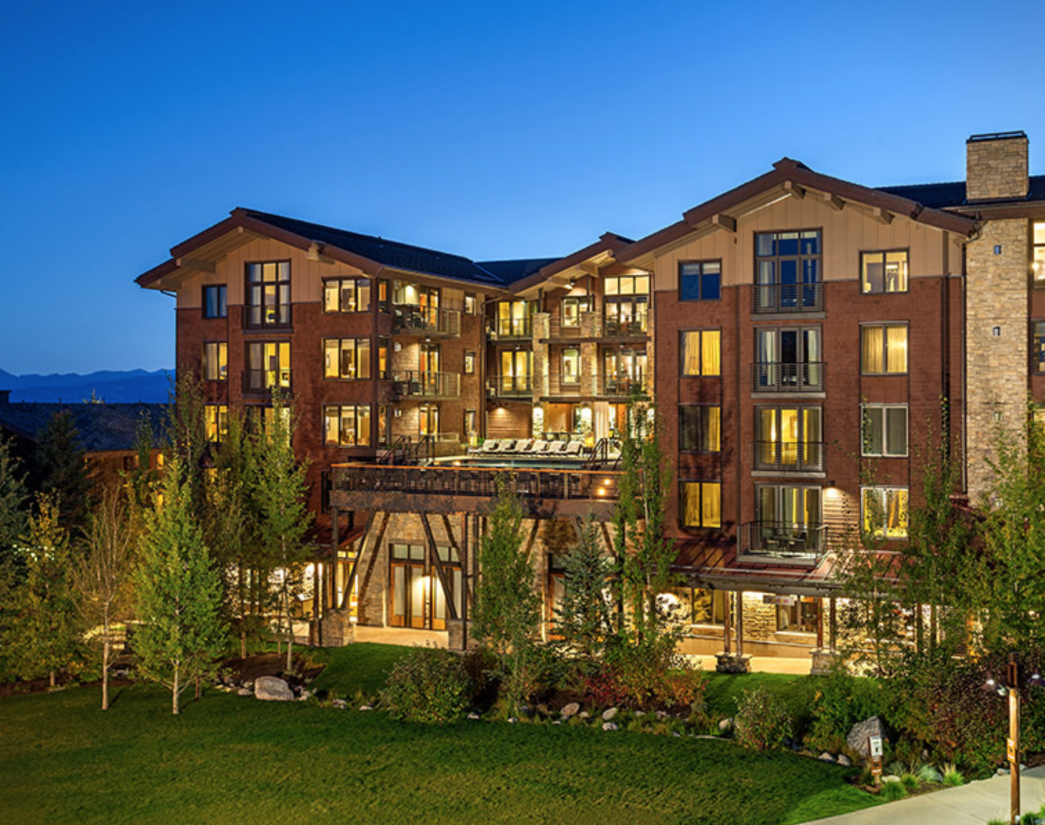 Hotel Terra borders Jackson Hole ski resort with out-the-door access to biking and hiking trails.
