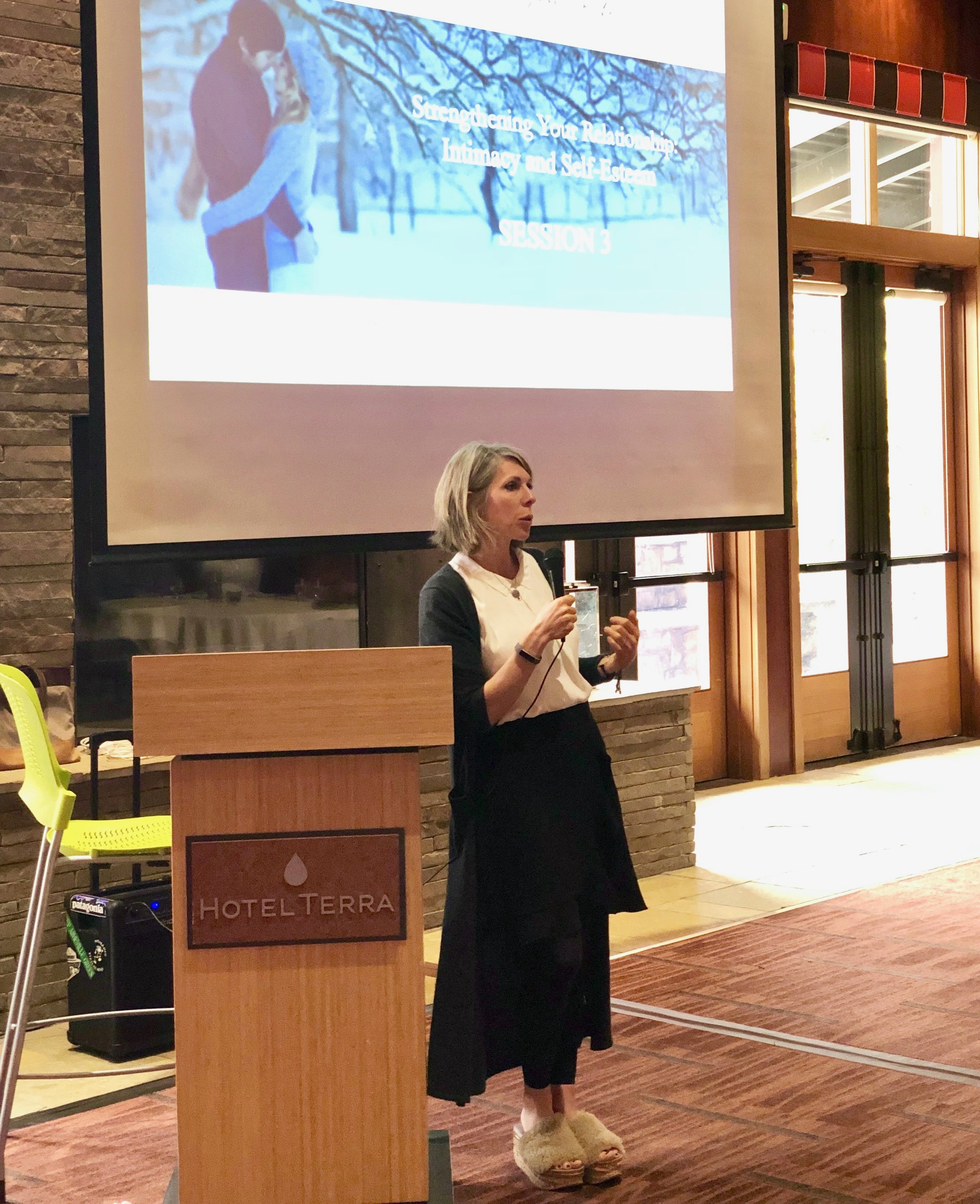 Dr. Finlayson-Fife presenting at 2018 Jackson Hole Couples' Retreat