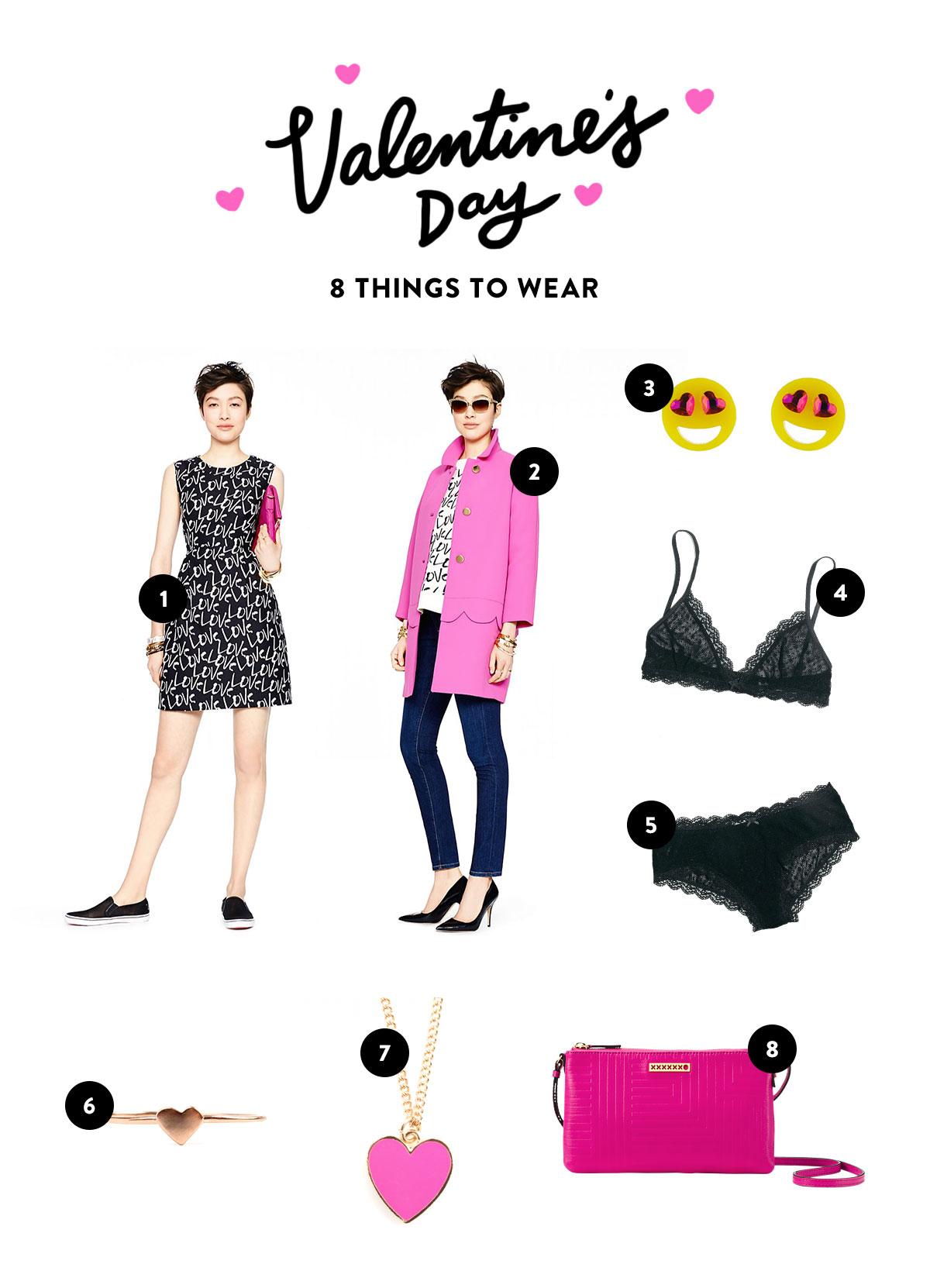 Valentine's Day: 8 Thinks to Wear