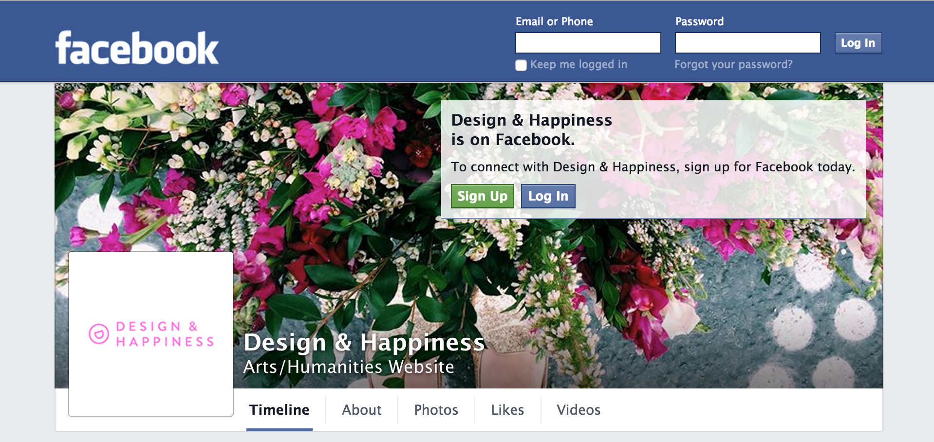 Design & Happiness' Facebook Page