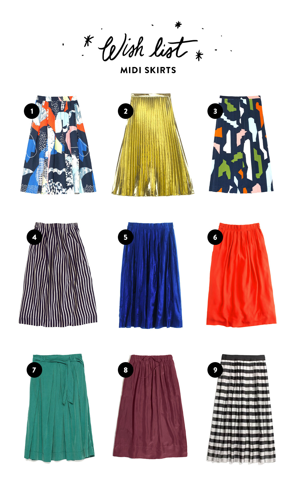 Wish List: Midi Skirts