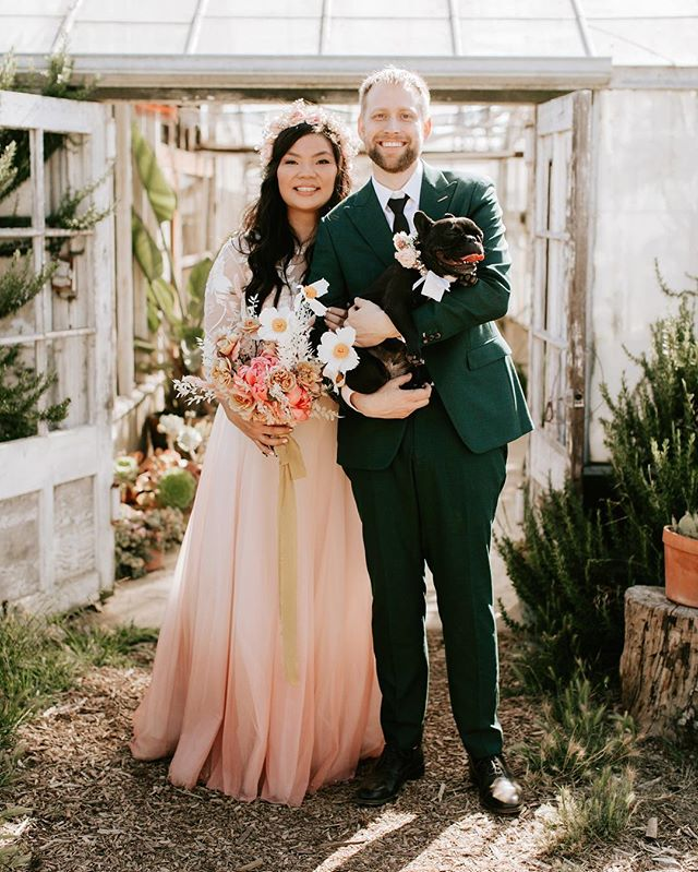 6.8.19 | Married my best friend. 💖👰🏻🤵🏼🐶 📷: @laurenscotti
