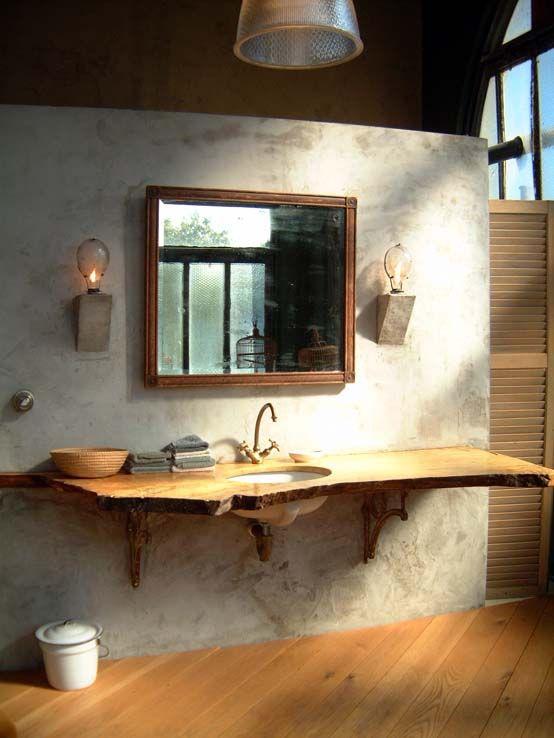Wooden Bathroom Feature / Herman Furniture Singapore