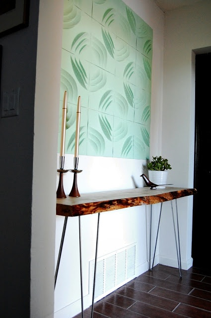 Solid Wood Wall Feature / Herman Furniture Singapore