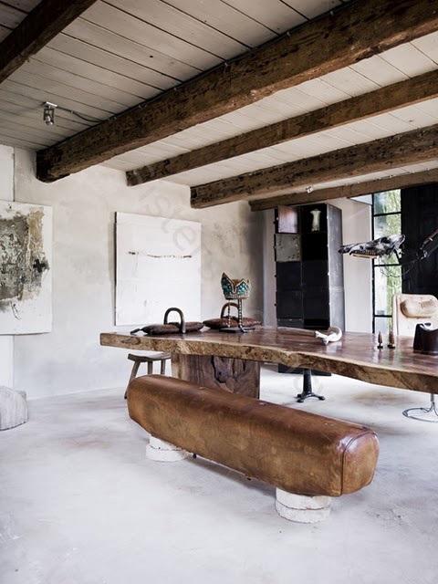 Log Bench and Table / Herman Furniture Singapore