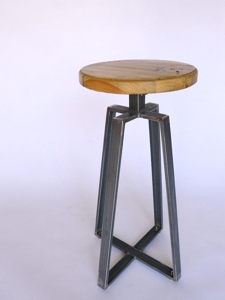 Metal Legs Wood Bar Stool / Herman Furniture Singapore