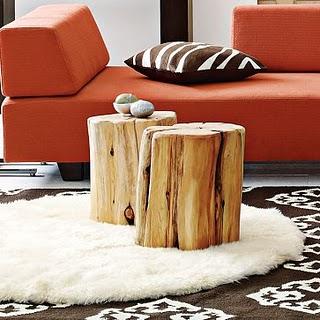 Raw Wood Trunk Feature / Herman Furniture Singapore