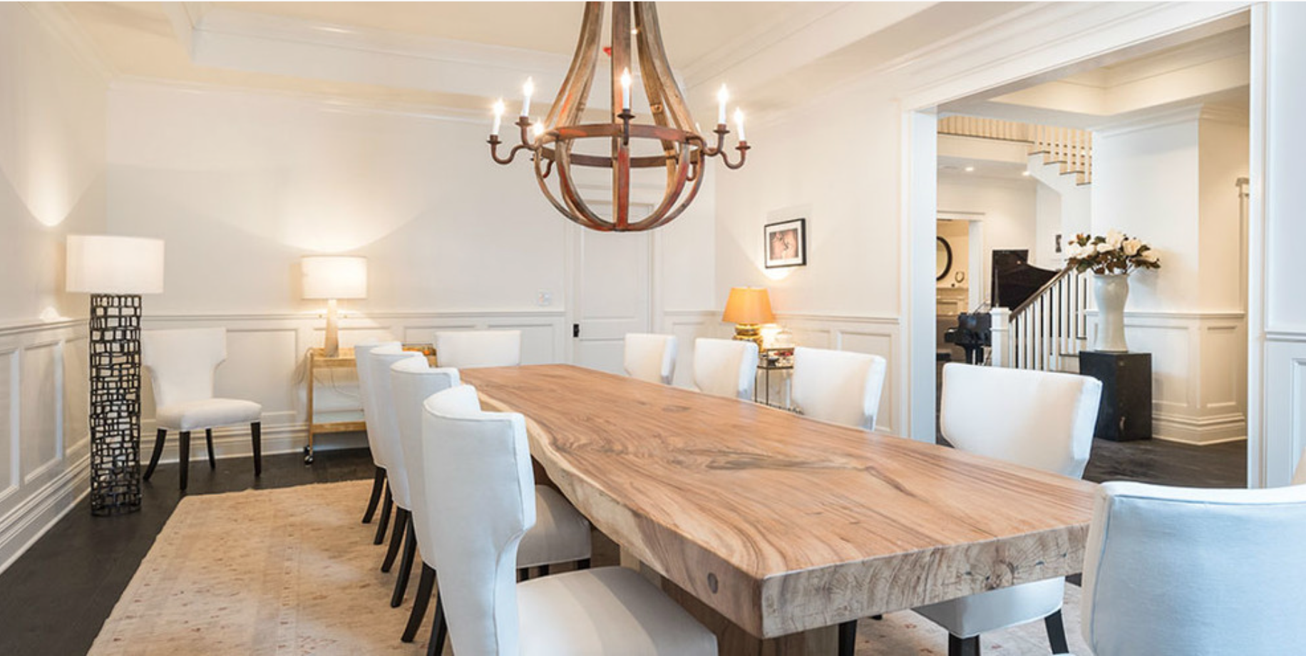 Solid Wood Thick Dining Table / Herman Furniture Singapore