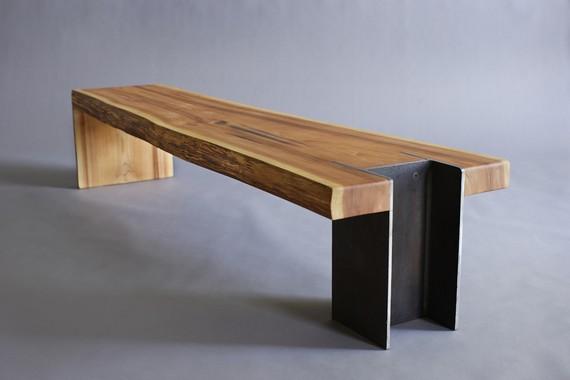 Suar Wood Metal Leg Bench / Herman Furniture Singapore