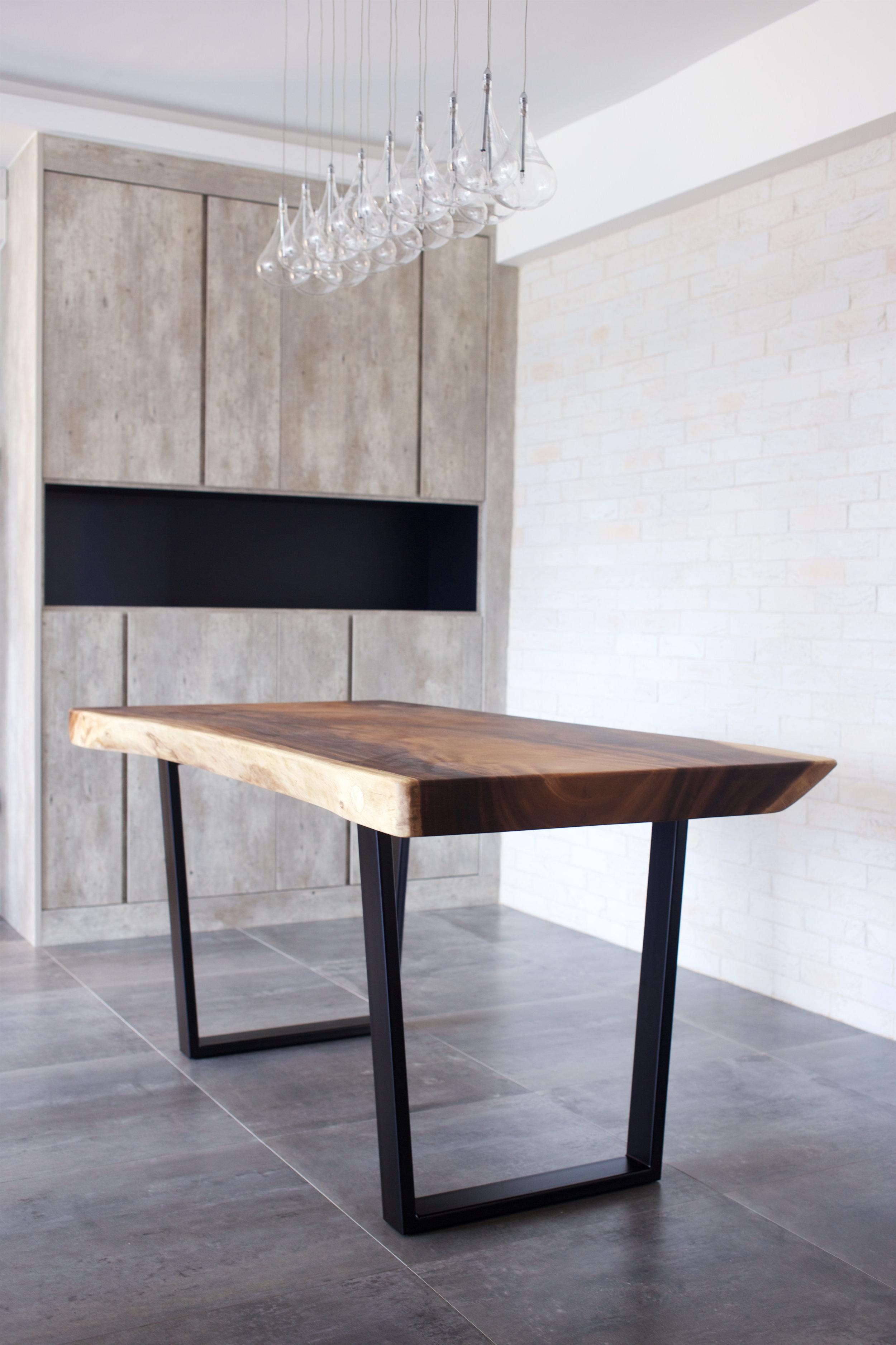 Suar Wood with Metal Legs Dining Table // Herman Furniture Singapore.jpg