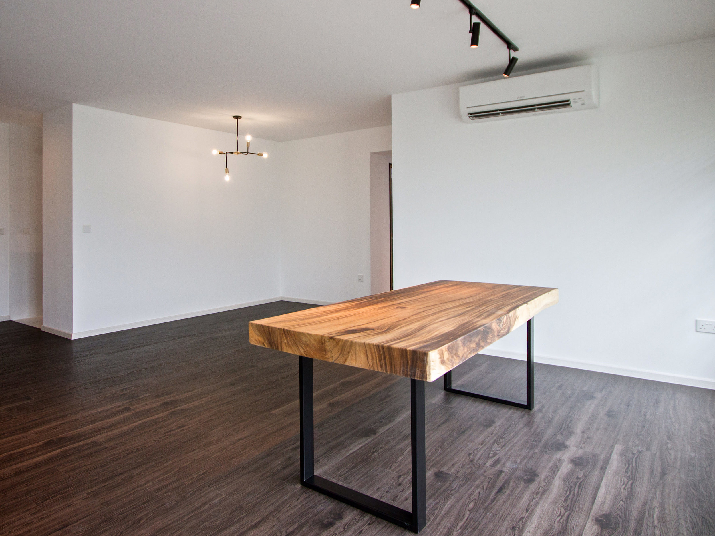 Rectangle Suar Wood Solid Wood Table // Herman Furniture Singapore