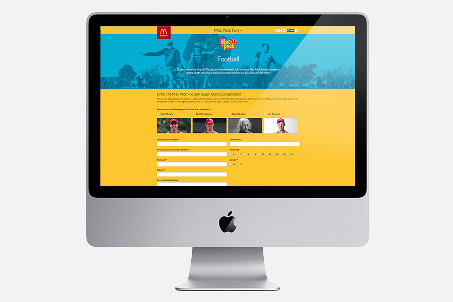 Desktop Football Page