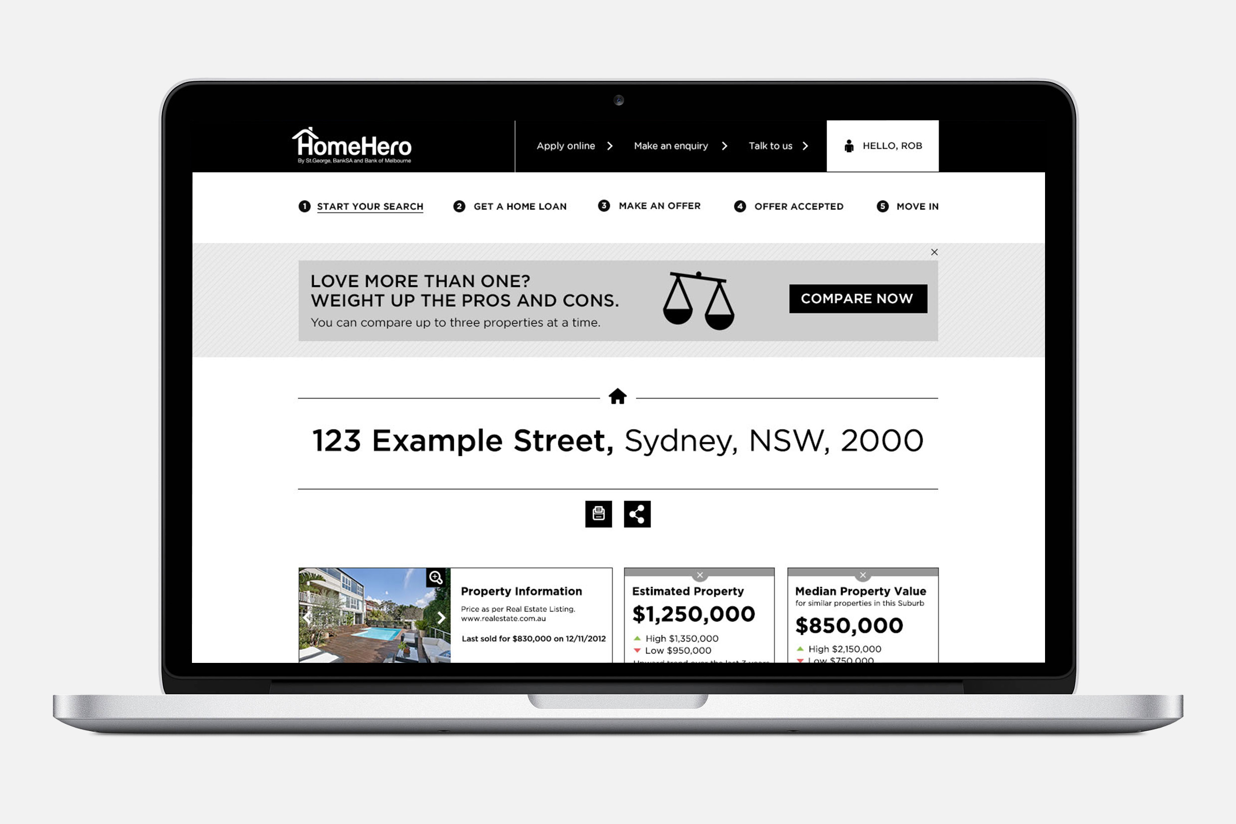 Property Information page
