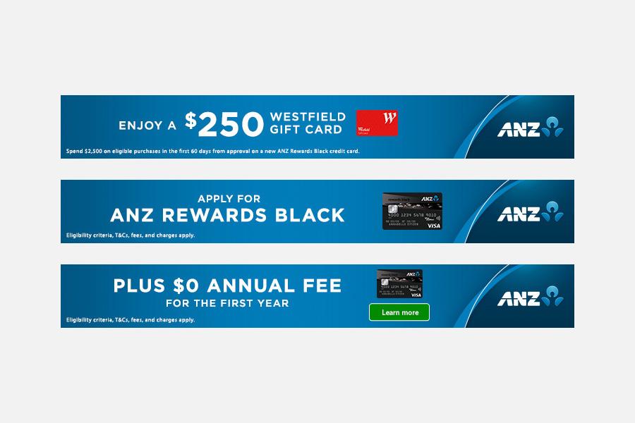 Leaderboard banners - Black Credit Card
