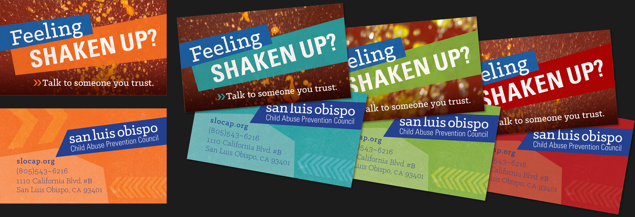 Feeling Shaken Up Business Cards