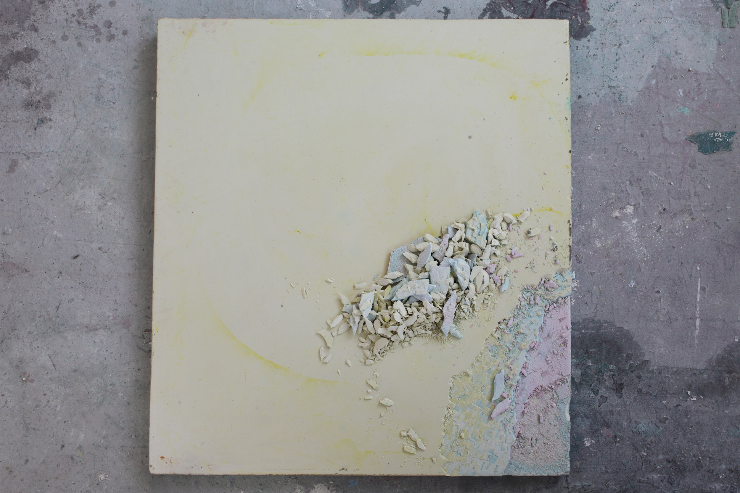 Studio View 2014: Chalk no. 4 - Colored chalk, 100 x 100 cm, Maastricht, 2014