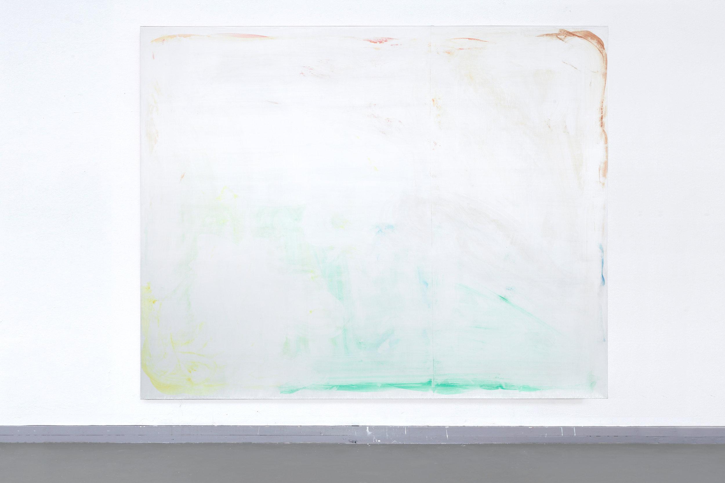Poetsdoek 2 (Mob) - Egg-tempera, Vanish Oxi Action on canvas, 250 x 200 cm, 2017